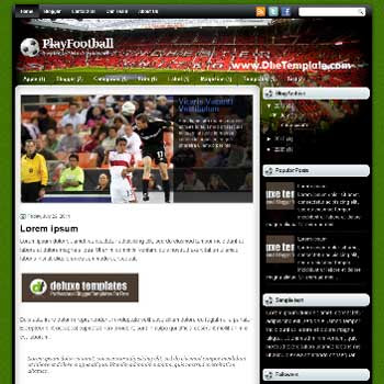 PlayFootball blogger template.