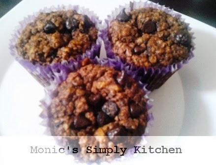 resep muffin coklat oatmeal chocochips