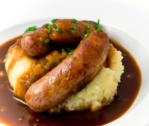 The Thrillbilly Gourmet Bangers and Mash