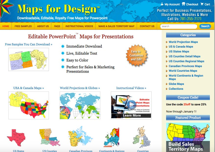Maps For Design • Editable Clip Art PowerPoint Maps: New ...