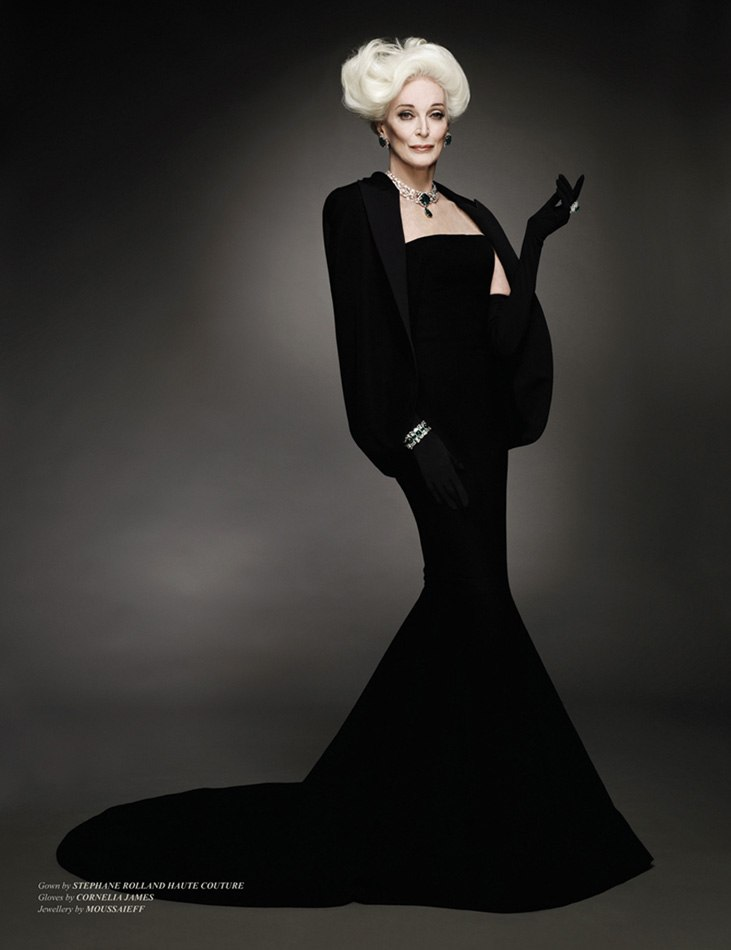 via fashioned by love | Carmen Dell'Orefice biography