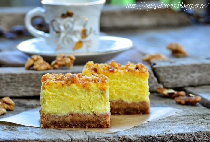 Cheesecake cu nuci caramelizate