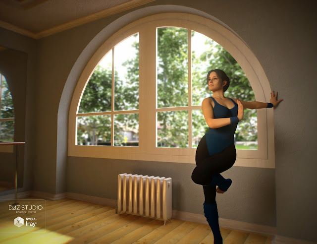 3d Models Art Zone - Let's Get Physical Bundle, Textures, Poses and Dance Class Studio