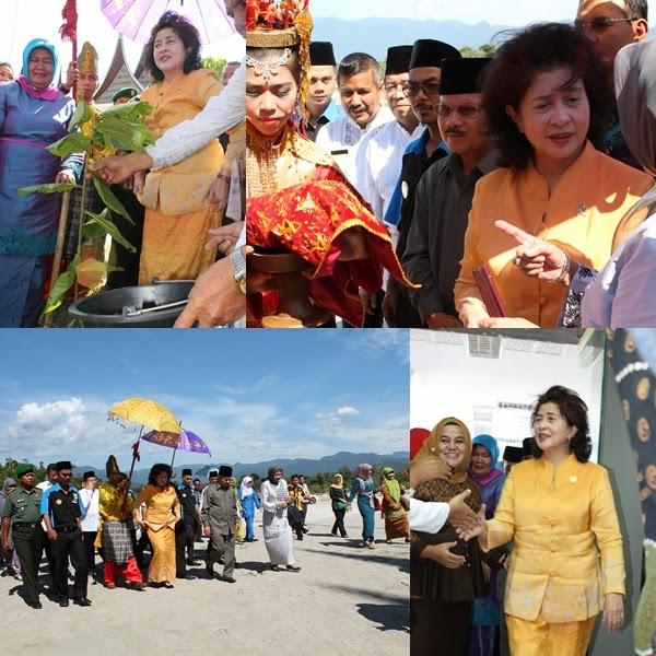 Kunjungi Padangpariaman, Menkes Nila Moeloek Puji Kumisnya Ali Mukhni