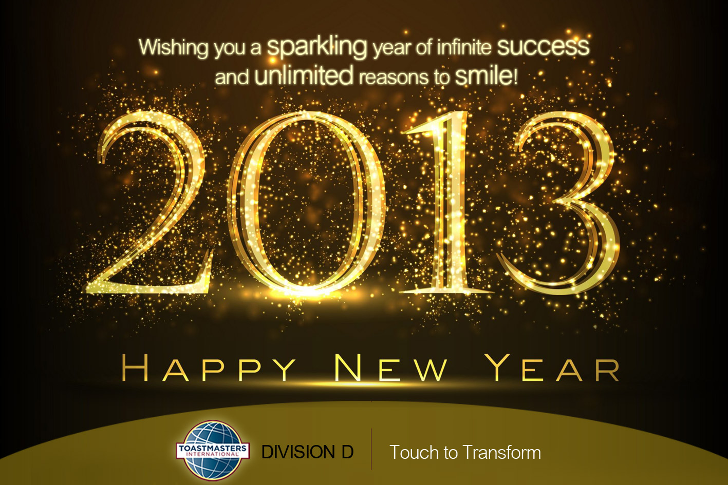 New Year Greetings Toastmasters International Division D Oman
