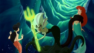 Morgana with the trident The Little Mermaid 2 2000 animatedfilmreviews.blogspot.com