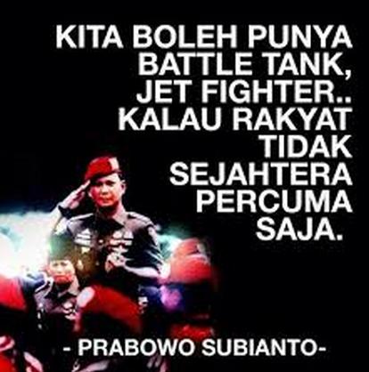 Kata Kata Bijak Prabowo Subianto dalam Bahasa Inggris dan Artinya