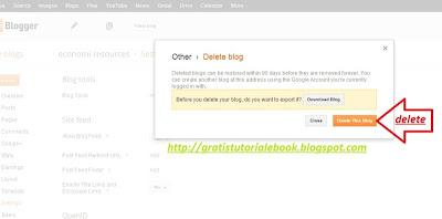 cara menghapus blog sendiri