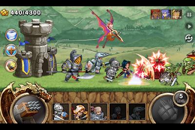 Kingdom Wars Mod v1.1.4 Apk Terbaru Unlimited Gold + Diamond