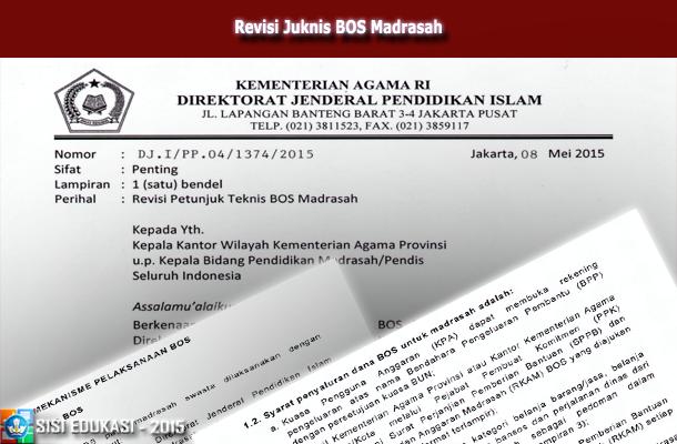Revisi Juknis BOS (Bantuan Operasional Sekolah) Madrasah
