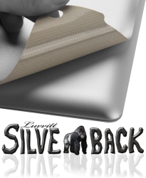 New Invisible Back Cover for iPad - Luvvitt® SILVERBACK™ Skin