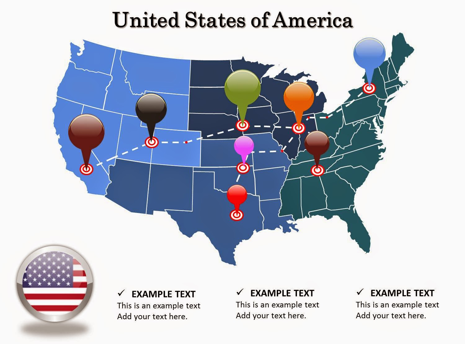 United States Map Powerpoint Template