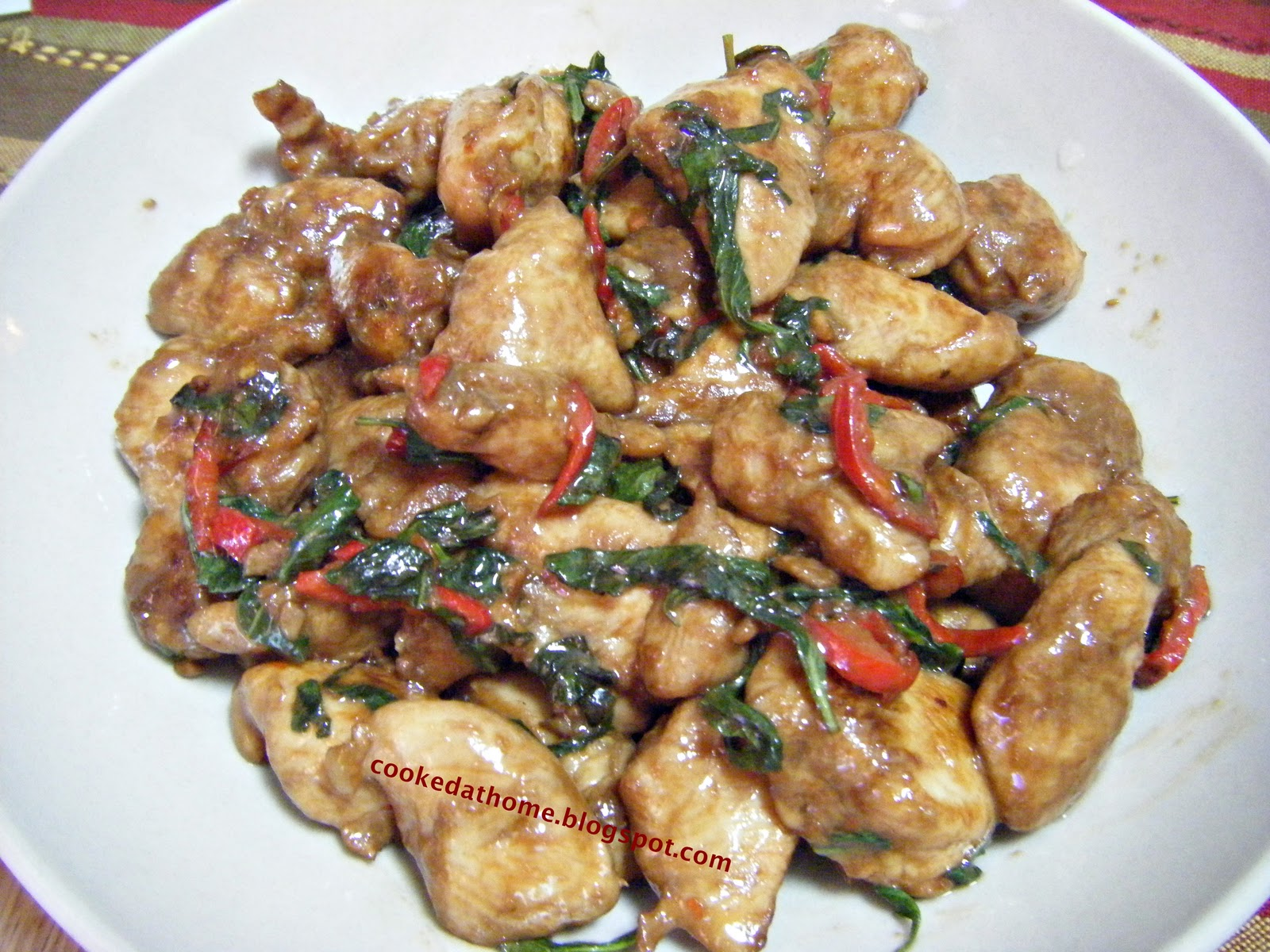 Cooking @ Home: Thai Style Basil Chicken