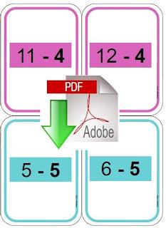 Cole r f rences cartes tables de soustraction for Reviser ses tables