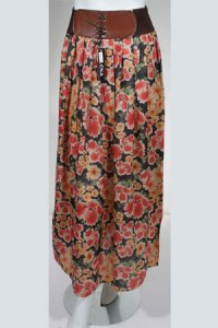 Rok Flower RF 012 - Hitam (Toko Jilbab dan Busana Muslimah Terbaru)