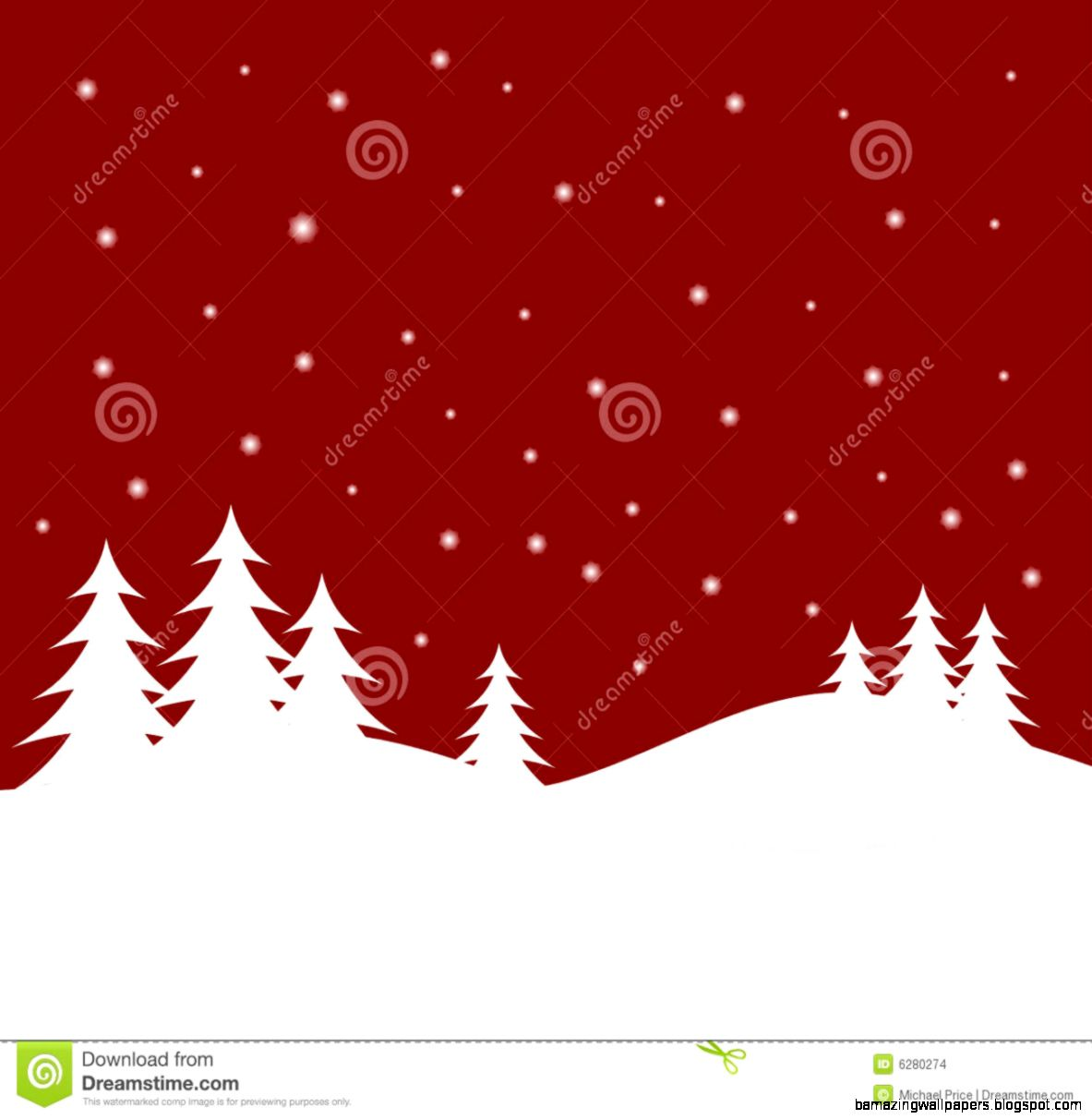 Red Christmas Winter Scene Stock Images   Image 6280274