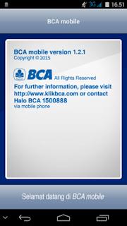 BCA Mobile  Versi 1.2.1