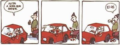 humor tirinhas carros batidos