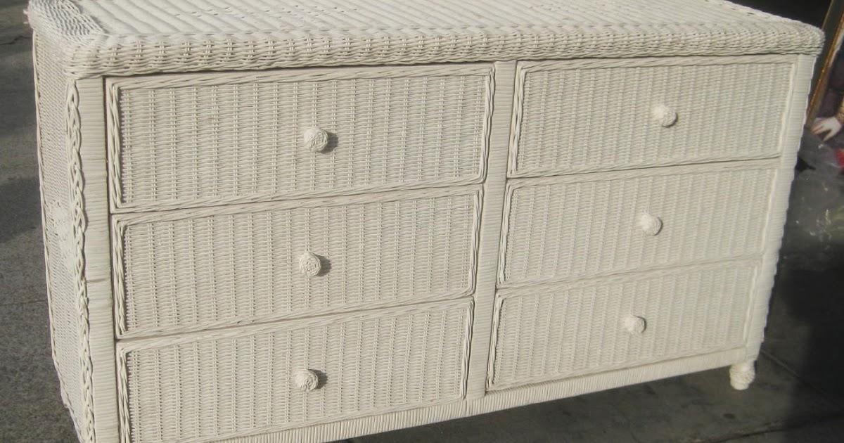 Uhuru Furniture Amp Collectibles Sold Wicker Dresser 65
