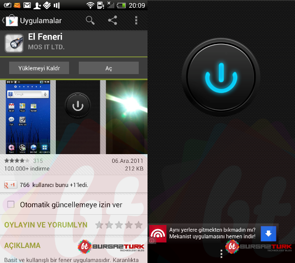 Android FlashLight HD El Feneri Apk resimi 5