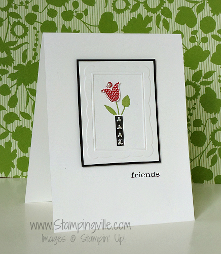 Clean & Simple Card Featuring Bright Blossoms Stamp Set by Stampin' Up!