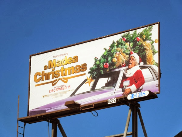Tyler Perry A Madea Christmas film billboard