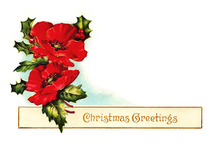 Poinsettia Christmas Digital Tag Design