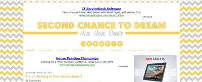 custom blog design chevron