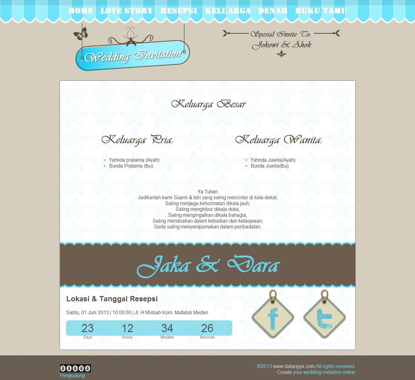 undangan online blue vintage keluarga besar undangan online blue ...