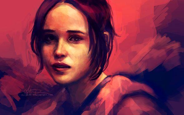 Alice X. Zhang alicexz deviantart pinturas de filmes séries Juno (Ellen Page)