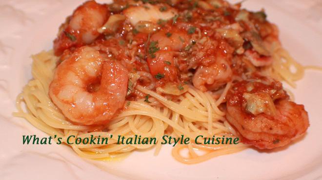 Seafood pasta with marinara sauce recipe