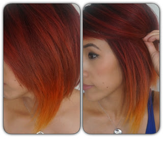 fire ombre hair
