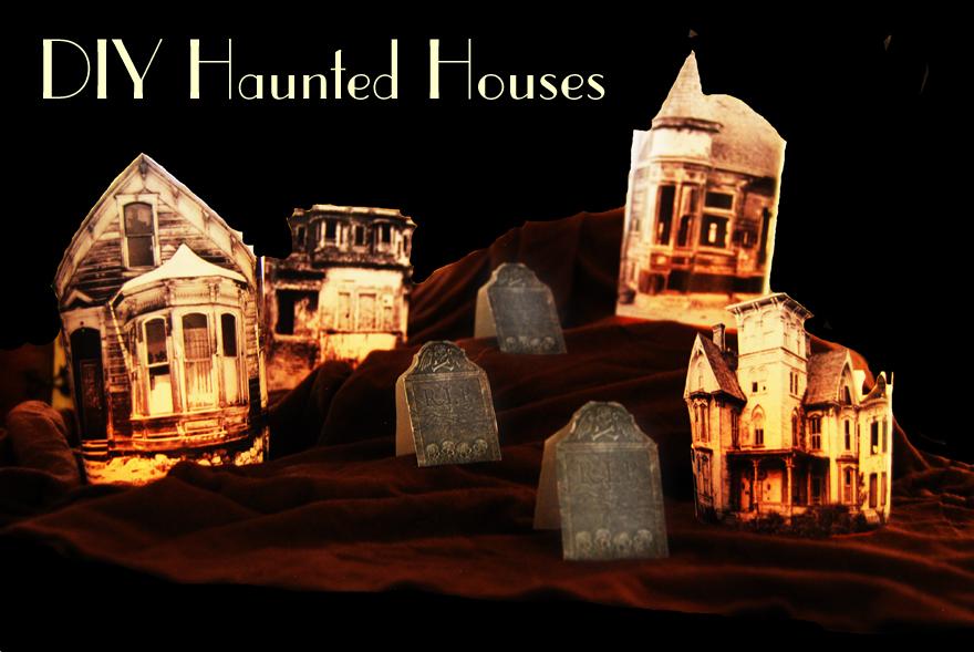 jessamity diy glowing haunted houses. Black Bedroom Furniture Sets. Home Design Ideas