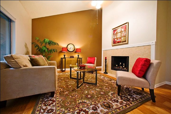 Wall paint color schemes living room for Color scheme for living room walls