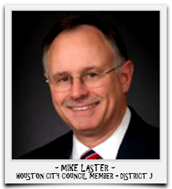 MIKE LASTER IS CURRENTLY SERVING HIS SECOND TERM IN OFFICE