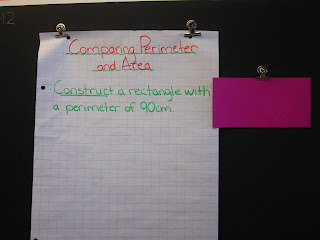 photo of comparing perimeter and area of a rectangle @ Runde's Room