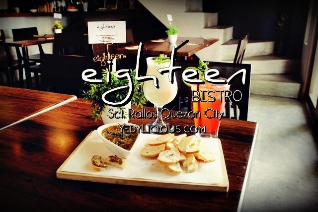 Eighteen Bistro Restaurant at Sct. Rallos Quezon City