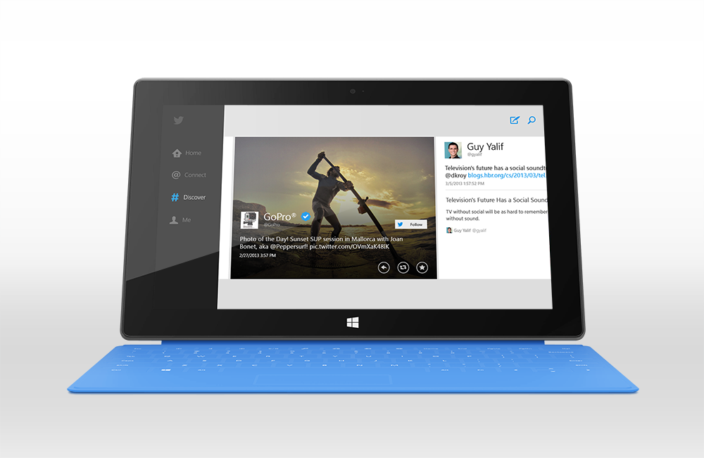 Official Twitter for Windows Apps in Surface Tab