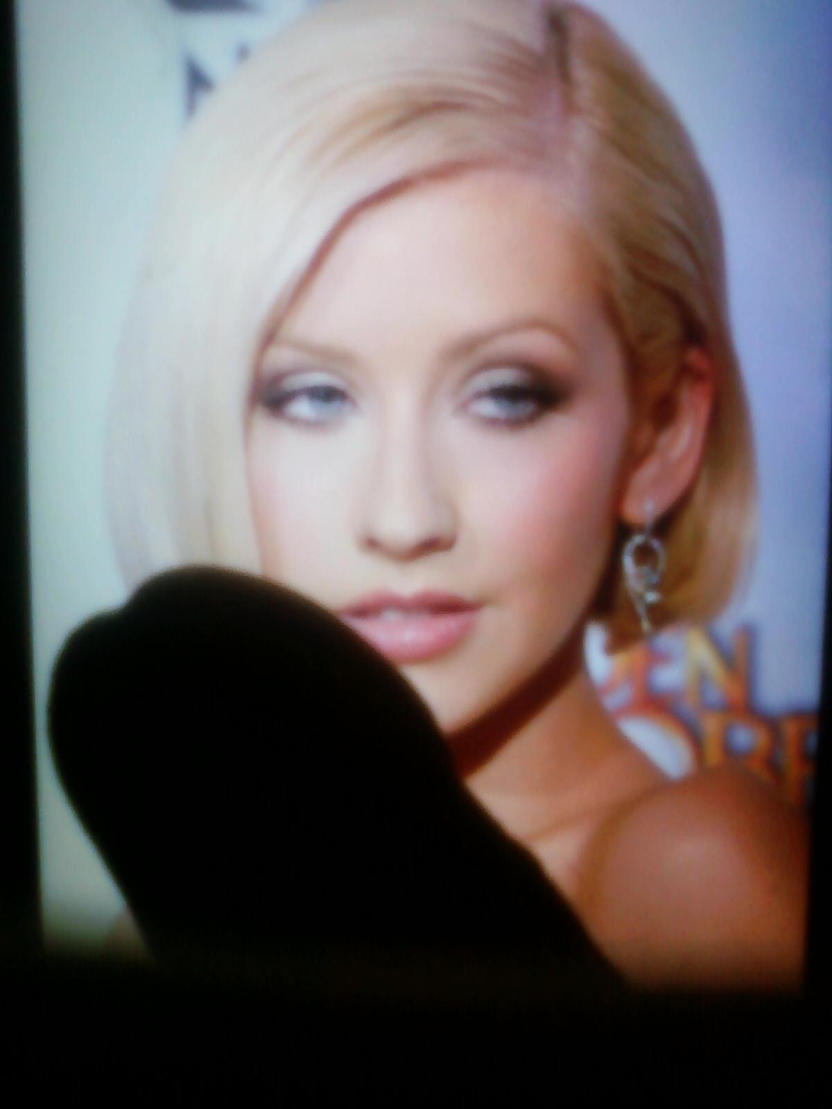 Celebrities Cum Tribute: Christina Aguilera Cum Tribute #1