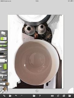 Step 2: Tasse, Spritzkappe, Farbe, Kopfform