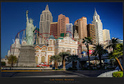 . New York resort seen from the corner of The MGM Grand Hotel, Las Vegas. (dst las vegas)