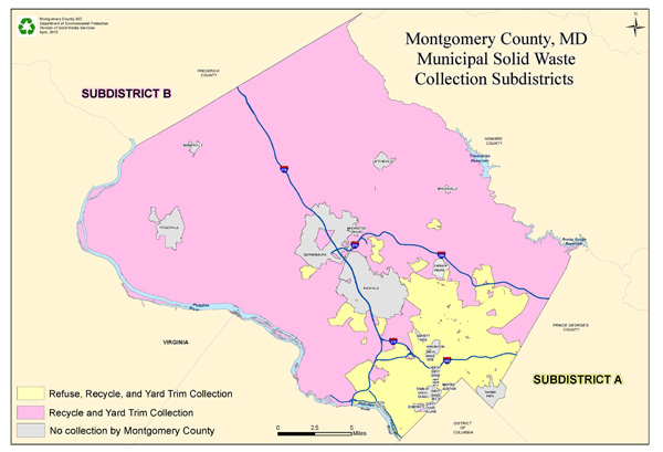 Talkin' Trash: Monday Map: Montgomery County, MD Munil Solid ... on