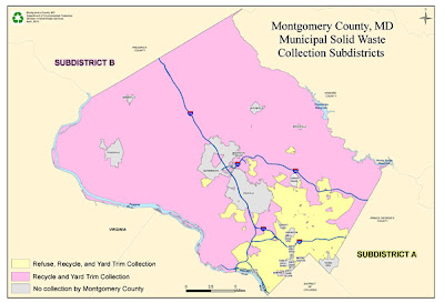 Montgomery County, MD Municipal Solid Waste Collection Subdistricts