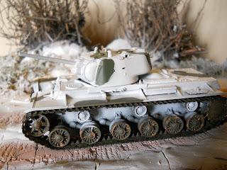 escena de tanques de la segunda guerra mundial a escala