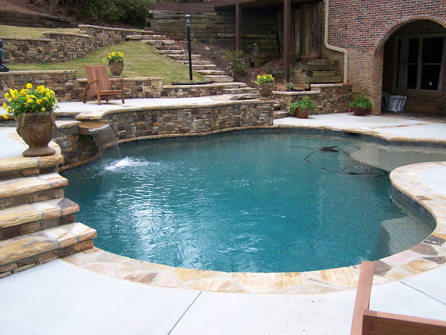 backyard oasis pools free form pool milton. Black Bedroom Furniture Sets. Home Design Ideas