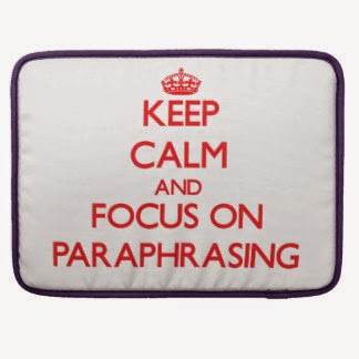 Paraphrasing word means