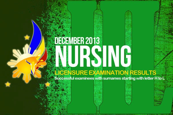 Related to June 2013 NLE Results - nursing board exam results |PRC