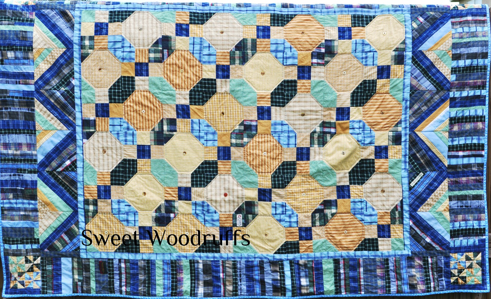 Sweet Woodruffs: Memorial Quilt out of Men s Shirts