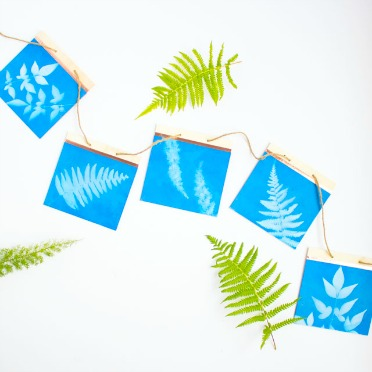 Make a pretty sun print garland