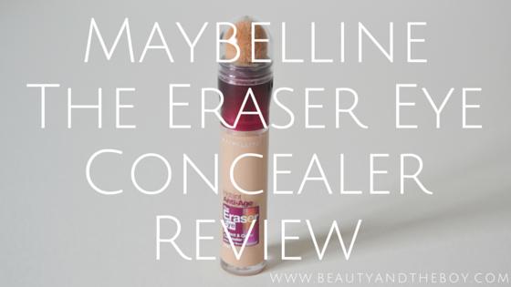 Maybelline The Eraser Eye Concealer Review
